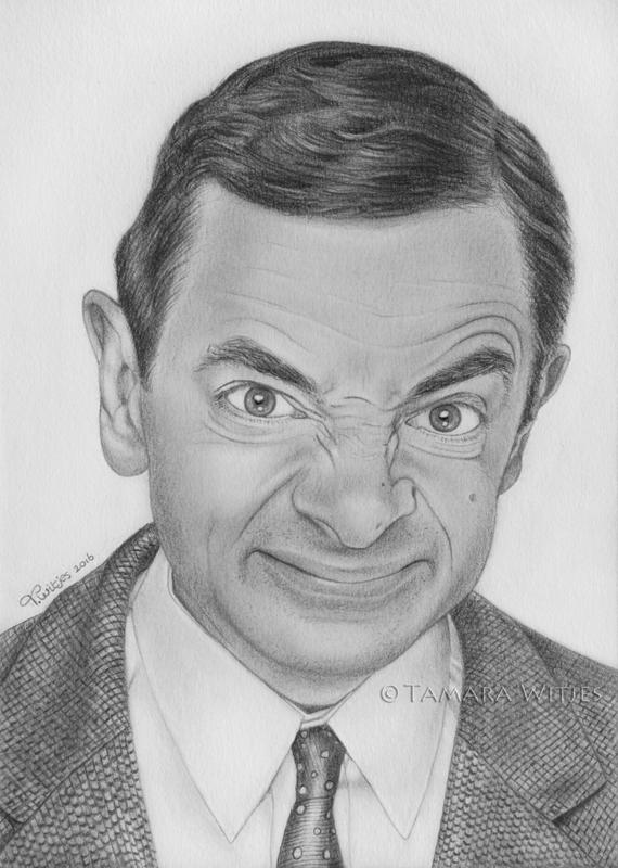 Portrettekening Mr Bean portrettekenaar